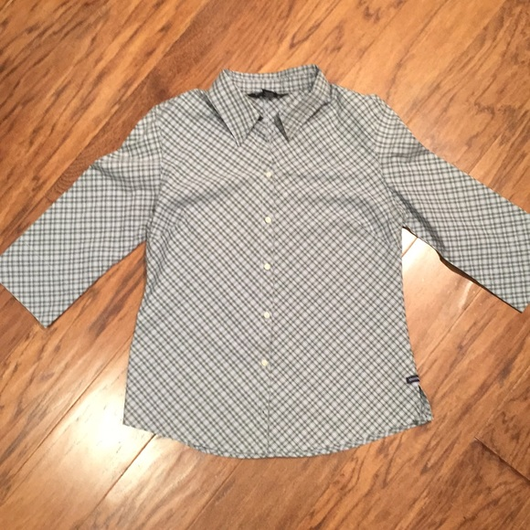 Abercrombie & Fitch Tops - Abercrombie button-down 3/4 sleeve shirt